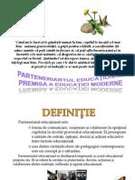 Parteneriatul Educaţional, Premisă e Educaţiei Moderne