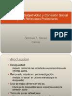 Cohesión Social Saraví Seminario Mayo 2010