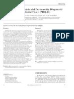Calvo 2002 - Spanish validation PDQ-4+_Actas Españolas Psiquiatria