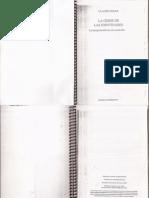 Claude Dubar-La Crisis de Las Identidades - Introducción