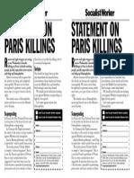 Charlie Hebdo Statement