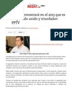 12-12-14 El PRI demostrará en el 2015 que es un partido unido y triunfador_ PPTV