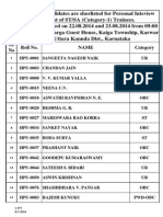 Result for STSA Trainees Kaiga Site