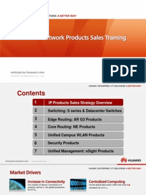Huawei IP Network Products Sales Training | Online Safety