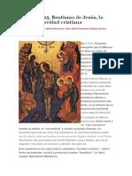 Bautismo de Jesús, La Primera Navidad Cristiana