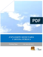 EXPANSION MONETARIA Y DEUDA PUBLICA