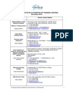 Accredited Dp Centre List - 7th November 2014