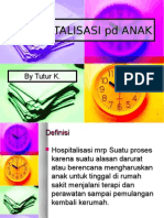 HOSPITALISASI pd ANAK