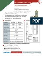 TM-121800/ TM-241800 A/V Transmitter Module