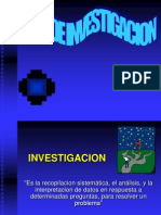 Tipos de Investigacion. proyectos