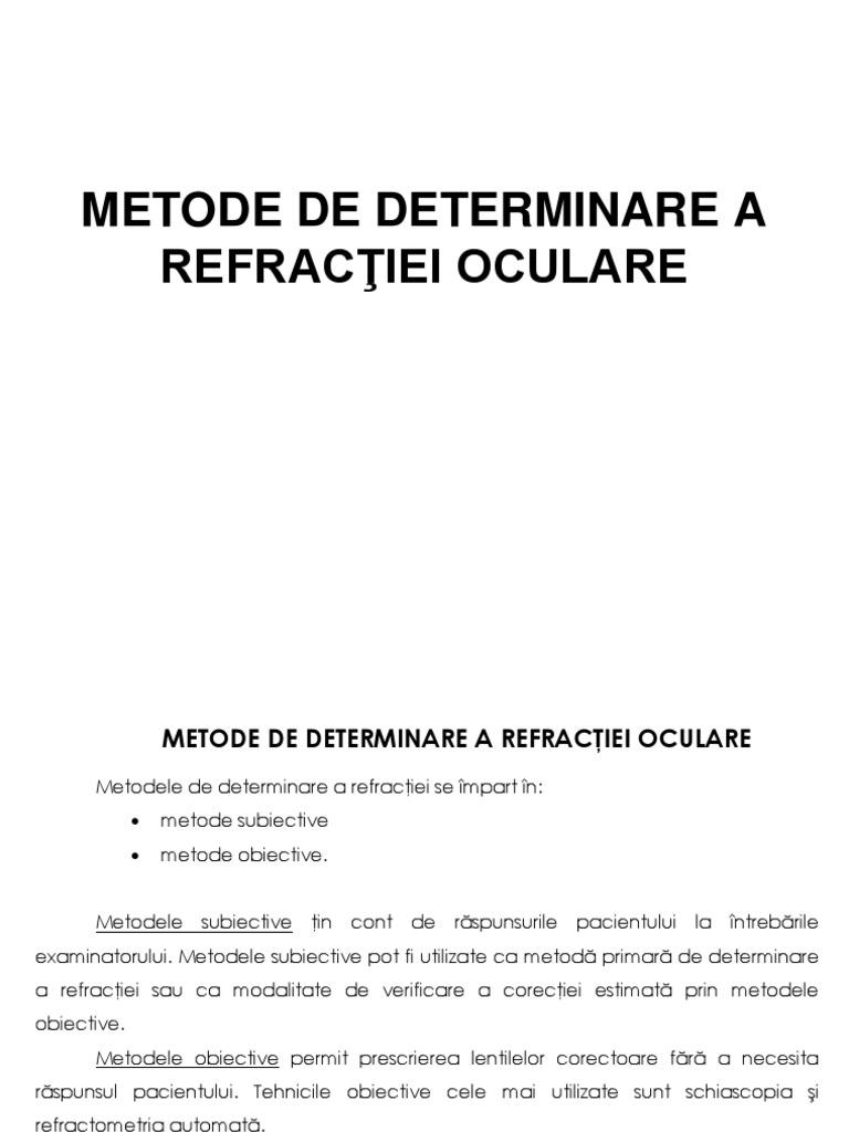 metode de refracție a oftalmologiei)