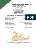 PSI Metallography 2012 catalog