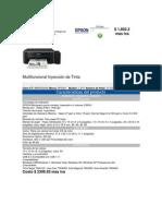 Impresora de Inyección de Tinta Multifuncional