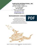 PSI Microabrasives 2012 catalog