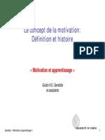 Le Concept de La Motivation Definition Et Histoire