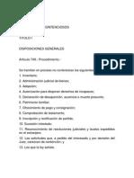 Seccion Sexta - Procesos No Contenciosos