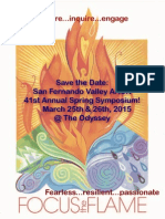 Save the Date Focus Flame 2015 SFV AACN