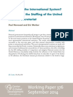 Who Runs the International System?  Power and the Staffing of the United Nations Secretariat