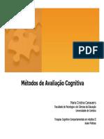 Métodos de Avaliação Cognitiva[1]
