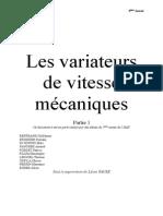 CM_Variateurs de Vitesse Mecaniques