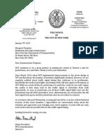 CM Rosenthal Letter to Manhattan DOT Commissioner Margaret Forgione re