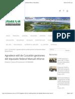 07-01-15 Agradece edil de Cuicatlán gestiones del diputado federal Manuel Añorve   Diario Marca