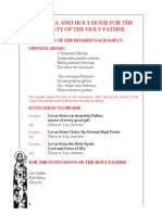 Novena for the Security of Pope Francis Day 4
