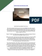 Perihal Iman Dan Kekuasaan Allah - Mist is Files