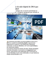 9 Tendencias de Mkt Digital de 2014 Que Sacudirán 2015
