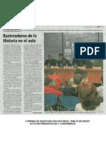 II PREMIO DE INVESTIGACIÓN HISTÓRICA ACTO DE PRESENTACIÓN