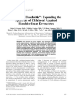 2007-Pediatric Blaschkitis'' Expanding The