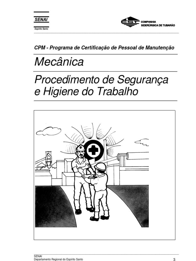 Mecânica - Procedimento de Segurança e Higiene do Trabalho 0f82d5fa7d