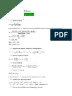 Mth603 Formulae