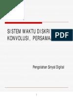 Psd-sistem Waktu Diskrit, Konvolusi, Persamaan Beda