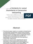 Lexical Similarity vs. Lexical Dissimilarity