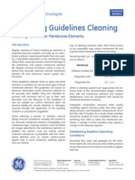 Ro Cleaning Guidelines