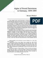 Origins of Social Darwinism in Germany