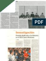 II EDICIÓN PREMIO DE INVESTIGACIÓN HISTÓRICA EMILIO DE DIEGO. PRESENTACIÓN