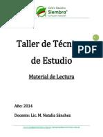 Taller Tecnicas de Estudio - Material de Lectura