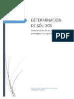Practica determinacion Solidos en agua residual