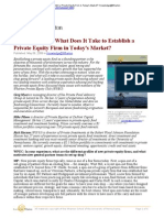 Establish a Private Equity Firm