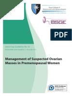 RCOG - Management of Suspected Ovarian Masses in Premenopausal Women (4)