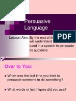 persuasive language powerpoint 2011