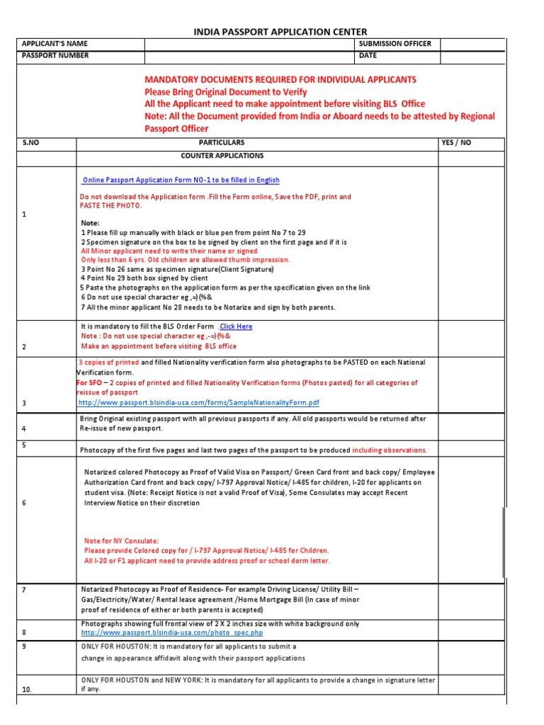 Pp Checklist Notary Public Passport