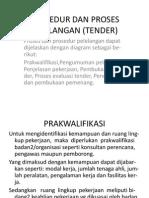 Prosedur Dan Proses Pelelangan/Tender