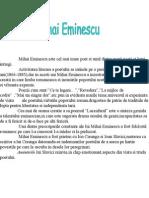 Mihai Eminescu Este Cel Mai Mare Poet Si Unul Dintre Marii Poeti Ai Lumi Intregi