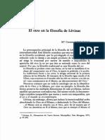 El Otro en La Filosofia de Levinas.