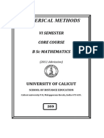 Guide to BSc Numerical Methods
