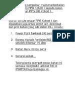 Borang Laporan Sahsiah Dari Guru Besar BIG Fasa PPG Sem 1 - Sem 6