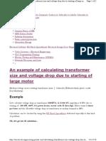 Calculating Transforme